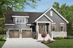 Early American House Plan Front of Home - 032D-0783 | House Plans and More