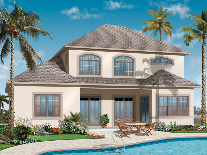 Florida House Plan Color Image of House - 032D-0784 | House Plans and More