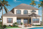 Sunbelt Home Plan Color Image of House - 032D-0784 | House Plans and More