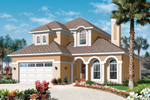 Florida House Plan Front of Home - 032D-0786 | House Plans and More
