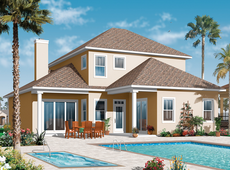 Florida House Plan Color Image of House - 032D-0786 | House Plans and More
