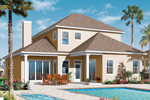 Sunbelt Home Plan Color Image of House - 032D-0786 | House Plans and More
