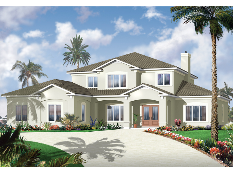 Florida House Plan Front of Home - 032D-0787 | House Plans and More