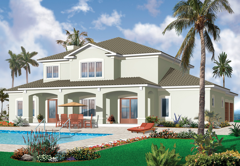 Traditional House Plan Color Image of House - 032D-0787 | House Plans and More
