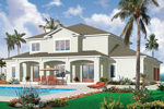 Sunbelt Home Plan Color Image of House - 032D-0787 | House Plans and More
