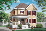 Farmhouse Plan Front Image - 032D-0789 | House Plans and More