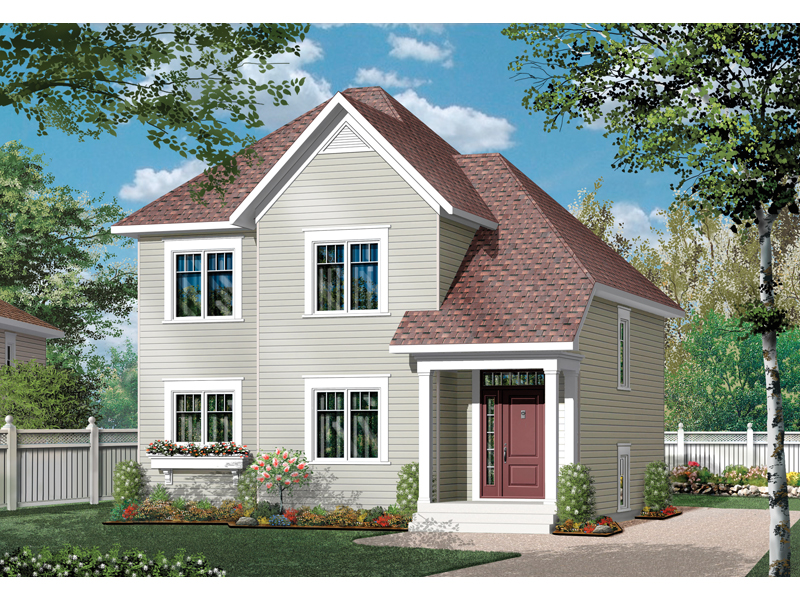 Farmhouse Plan Front of Home - 032D-0790 | House Plans and More