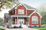 Farmhouse Plan Front of Home - 032D-0792 | House Plans and More