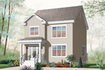 Early American House Plan Front of Home - 032D-0793 | House Plans and More