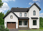 Acadian House Plan Front of Home - 032D-0794 | House Plans and More