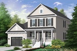 Farmhouse Plan Front of Home - 032D-0795 | House Plans and More