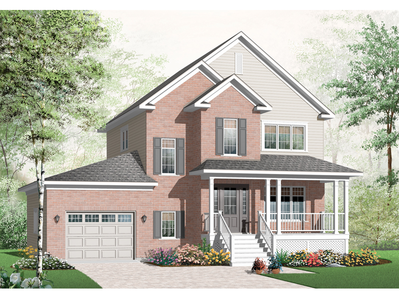 Traditional House Plan Front of Home - 032D-0798 | House Plans and More