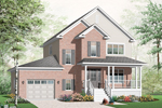 Farmhouse Plan Front of Home - 032D-0798 | House Plans and More