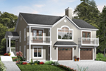 Waterfront House Plan Front of Home - 032D-0800 | House Plans and More