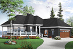 Country House Plan Front Photo 03 - 032D-0801 | House Plans and More