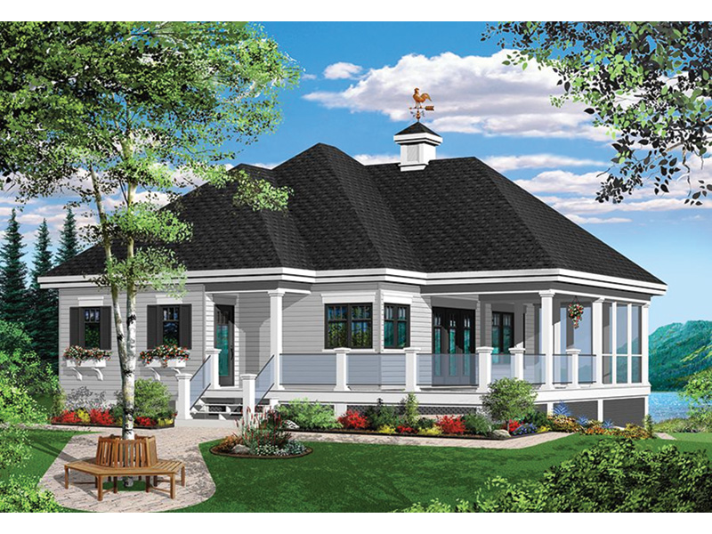 Vacation House Plan Front Photo 05 - 032D-0801 | House Plans and More