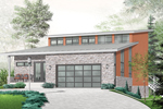 Contemporary House Plan Front of Home - 032D-0802 | House Plans and More