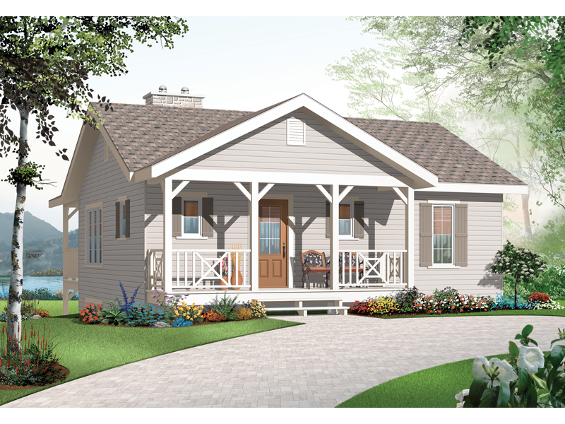 Vacation Home Plan Front of Home - 032D-0803 | House Plans and More