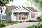 Bungalow House Plan Front of Home - 032D-0803 | House Plans and More
