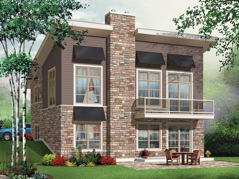 Vacation House Plan Front Image - 032D-0804 | House Plans and More