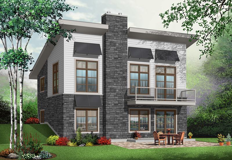 Contemporary House Plan Front of Home - 032D-0804 | House Plans and More