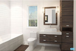 Contemporary House Plan Bathroom Photo 01 - 032D-6029 | House Plans and More