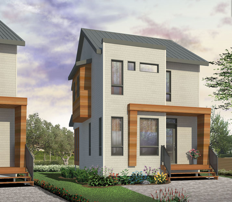 Contemporary House Plan Front of Home - 032D-6029 | House Plans and More
