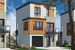 Modern House Plan Front of Home - 032D-0807 | House Plans and More