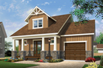 Craftsman House Plan Front of Home - 032D-0808 | House Plans and More