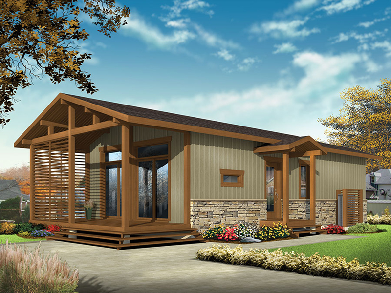 Mountain Home Plan Front of Home - 032D-0811 | House Plans and More