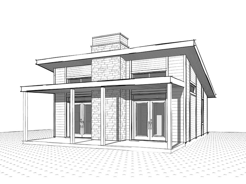 Rustic Home Plan Front Image of House - 032D-0813 | House Plans and More