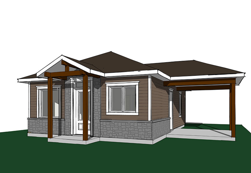 Craftsman House Plan Front Image - 032D-0815 | House Plans and More