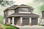 Prairie Style Floor Plan Front of Home - 032D-0816 | House Plans and More