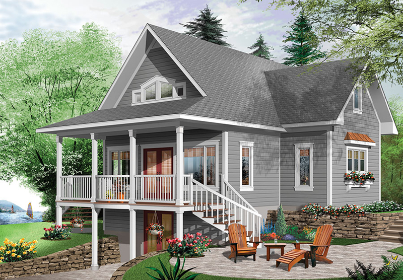 Lake House Plan Front of Home - 032D-0817 | House Plans and More