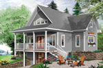 Beach & Coastal House Plan Front of Home - 032D-0817 | House Plans and More