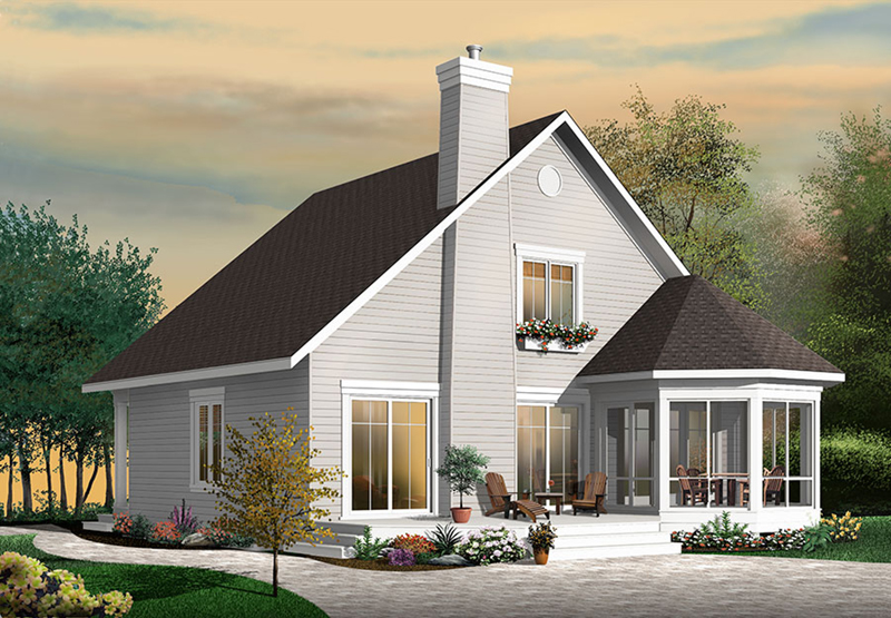 Vacation House Plan Front of Home - 032D-0818 | House Plans and More