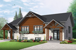 Craftsman House Plan Front of Home - 032D-0819 | House Plans and More