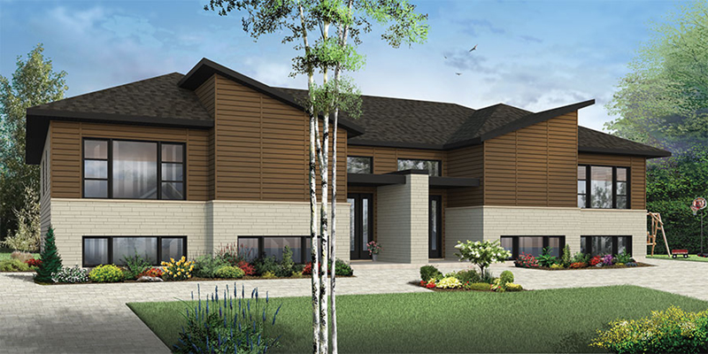 Bandon Modern Duplex Plan 032d 0820 House Plans And More