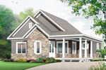 Cabin & Cottage House Plan Front of Home - 032D-0822 | House Plans and More