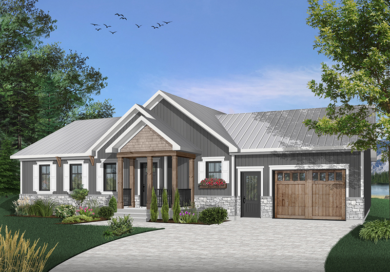 Arts & Crafts House Plan Front of Home - 032D-0823 | House Plans and More