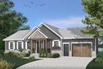 Country House Plan Front of Home - 032D-0823 | House Plans and More