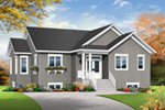 Ranch House Plan Front of Home - 032D-0824 | House Plans and More