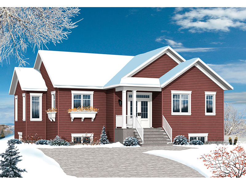 Ranch House Plan Front Photo 02 - 032D-0824 | House Plans and More