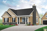 Cabin & Cottage House Plan Front of Home - 032D-0832 | House Plans and More