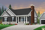 Shingle House Plan Front Photo 01 - 032D-0832 | House Plans and More
