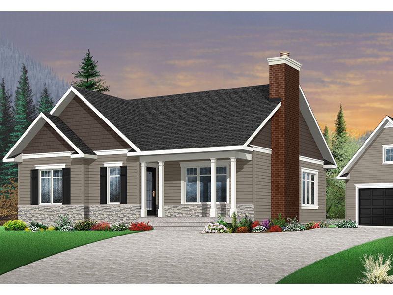 Shingle House Plan Front Photo 03 - 032D-0832 | House Plans and More