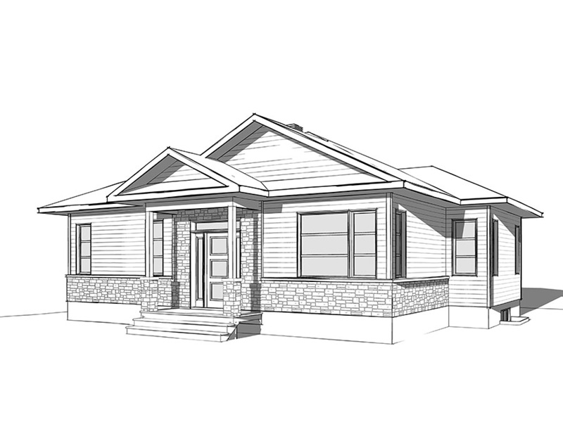 Cabin & Cottage House Plan Front Image of House - 032D-0835 | House Plans and More
