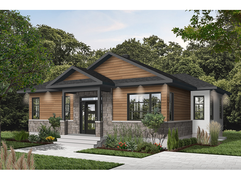 Cabin & Cottage House Plan Front Photo 01 - 032D-0835 | House Plans and More