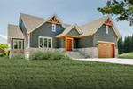 Rustic Home Plan Front of Home - 032D-0837 | House Plans and More