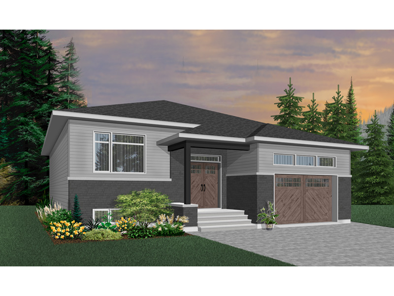 Ranch House Plan Front Photo 01 - Moxie Modern Prairie Home 032D-0839 | House Plans and More